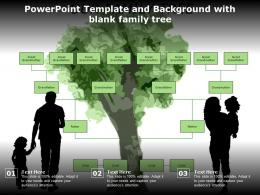 Powerpoint Template And Background With Blank Family Tree