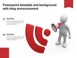 Powerpoint Template And Background With Blog Announcement