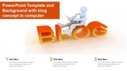 Powerpoint Template And Background With Blog Computer