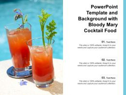 Powerpoint Template And Background With Bloody Mary Cocktail Food