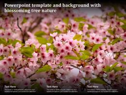 Powerpoint Template And Background With Blossoming Tree Nature