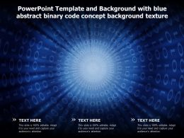 Powerpoint Template And Background With Blue Abstract Binary Code Concept Background Texture