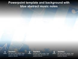 Powerpoint Template And Background With Blue Abstract Music Notes