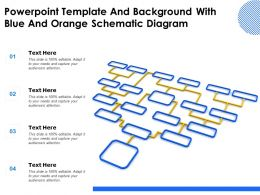 Powerpoint Template And Background With Blue And Orange Schematic Diagram