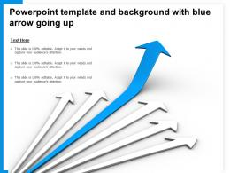 Powerpoint Template And Background With Blue Arrow Going Up
