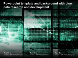 Powerpoint Template And Background With Blue Data Research And Development