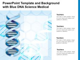 Powerpoint Template And Background With Blue DNA Science Medical
