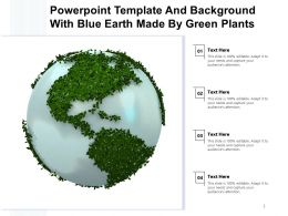 Powerpoint Template And Background With Blue Earth Made By Green Plants