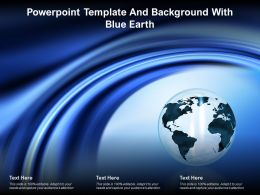 Powerpoint Template And Background With Blue Earth