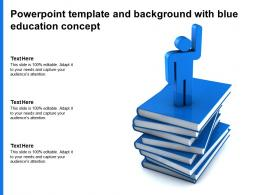 Powerpoint Template And Background With Blue Education Concept