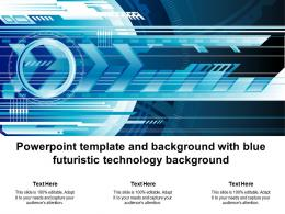 Powerpoint Template And Background With Blue Futuristic Technology Background