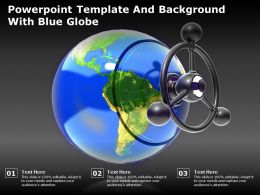 Powerpoint Template And Background With Blue Globe