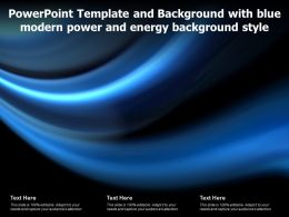 Powerpoint Template And Background With Blue Modern Power And Energy Background Style