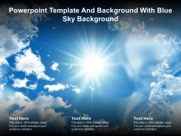 Powerpoint Template And Background With Blue Sky Background