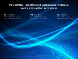 Powerpoint Template And Background With Blue Vector Abstraction With Waves