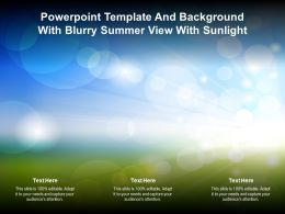 Powerpoint Template And Background With Blurry Summer View With Sunlight
