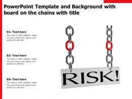 Powerpoint Template And Background With Board On The Chains With Title