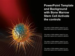 Powerpoint Template And Background With Bone Marrow Stem Cell Activate The Controls