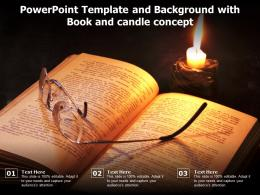 Powerpoint Template And Background With Book And Candle Concept
