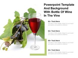 Powerpoint Template And Background With Bottle Of Wine In The Vine