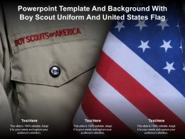 Powerpoint Template And Background With Boy Scout Uniform And United States Flag