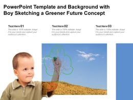Powerpoint Template And Background With Boy Sketching A Greener Future Concept