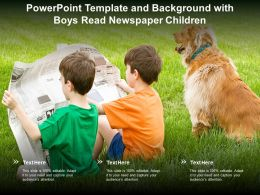 Powerpoint Template And Background With Boys Read Newspaper Children