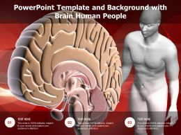 Powerpoint Template And Background With Brain Human People