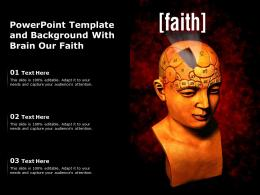 Powerpoint Template And Background With Brain Our Faith