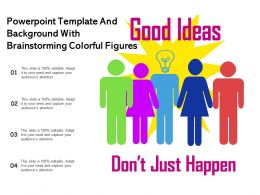 Powerpoint Template And Background With Brainstorming Colorful Figures