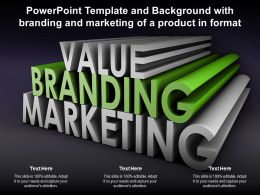 Powerpoint Template And Background With Branding And Marketing Of A Product In Format