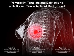 Powerpoint Template And Background With Breast Cancer Isolated Background