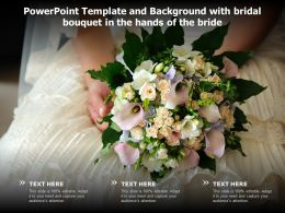 Powerpoint Template And Background With Bridal Bouquet In The Hands Of The Bride
