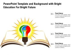 Powerpoint Template And Background With Bright Education For Bright Future