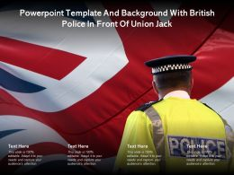 Powerpoint Template And Background With British Police In Front Of Union Jack