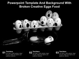Powerpoint Template And Background With Broken Creative Eggs Food
