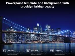 Powerpoint Template And Background With Brooklyn Bridge Beauty