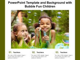 Powerpoint Template And Background With Bubble Fun Children