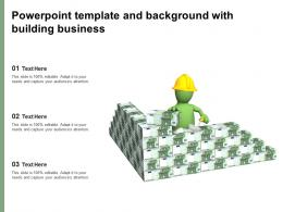 Powerpoint Template And Background With Building Business