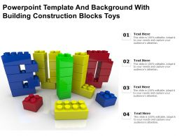 Powerpoint Template And Background With Building Construction Blocks Toys