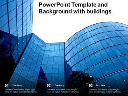Powerpoint Template And Background With Buildings