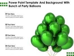 Powerpoint Template And Background With Bunch Of Party Balloons