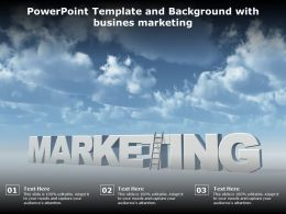 Powerpoint Template And Background With Busines Marketing