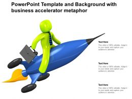 Powerpoint Template And Background With Business Accelerator Metaphor
