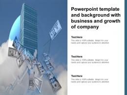 Powerpoint Template And Background With Business And Growth Of Company