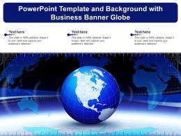 Powerpoint Template And Background With Business Banner Globe