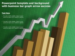 Powerpoint Template And Background With Business Bar Graph Arrow Success