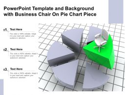 Powerpoint Template And Background With Business Chair On Pie Chart Piece