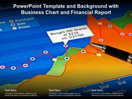Powerpoint Template And Background With Business Chart And Financial Report