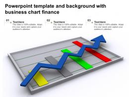 Powerpoint Template And Background With Business Chart Finance